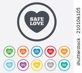 safe love sign icon. safe sex... | Shutterstock .eps vector #210106105