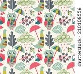 autumn seamless pattern | Shutterstock .eps vector #210108556