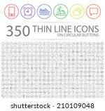 set of 350 modern thin stroke... | Shutterstock .eps vector #210109048
