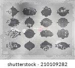 vector distressed frame set.... | Shutterstock .eps vector #210109282