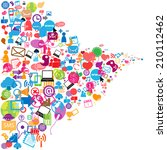 social network background with... | Shutterstock .eps vector #210112462