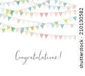 cute congratulations... | Shutterstock . vector #210130582