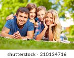 parents and their children... | Shutterstock . vector #210134716