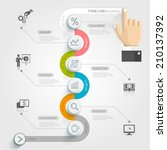 business timeline infographic... | Shutterstock .eps vector #210137392
