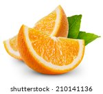 Orange Fruit Slice Isolated