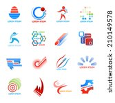 business icons and logo vector...   Shutterstock .eps vector #210149578