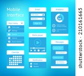 vector user interface template... | Shutterstock .eps vector #210161665