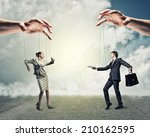 image of a two puppet... | Shutterstock . vector #210162595