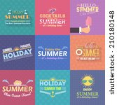 hello summer  travel badge and... | Shutterstock .eps vector #210180148