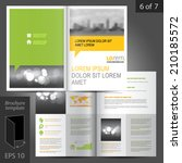 business vector brochure... | Shutterstock .eps vector #210185572