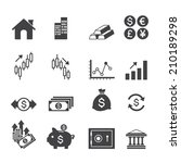 financial investment icons | Shutterstock .eps vector #210189298