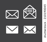 mail icon   Shutterstock .eps vector #210190045