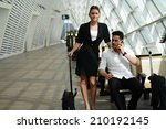 beautiful young business people ...   Shutterstock . vector #210192145