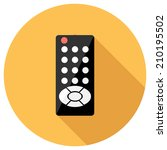 remote control icon. flat... | Shutterstock .eps vector #210195502