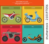 set of elements choppers ... | Shutterstock .eps vector #210197056