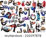 jazz musicians   vector... | Shutterstock .eps vector #210197878