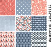 seamless patterns set   simple... | Shutterstock .eps vector #210199582