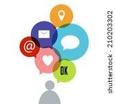 social network vector concept | Shutterstock .eps vector #210203302