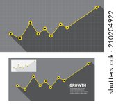 vector flat business graph and...
