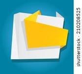speech bubble vector... | Shutterstock .eps vector #210208525
