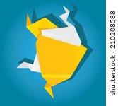 speech bubble vector...   Shutterstock .eps vector #210208588
