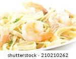Shrimp Fettuccini Alfredo With...