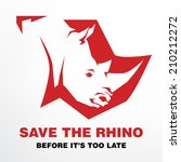 save the rhino before it's too... | Shutterstock .eps vector #210212272