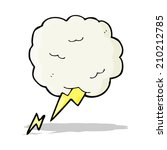 cartoon thundercloud symbol   Shutterstock .eps vector #210212785