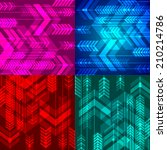 set of four abstract arrows... | Shutterstock .eps vector #210214786