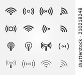 wireless icons set   vector... | Shutterstock .eps vector #210218248