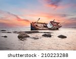 Fishing Boat Capsize Sunset...