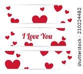 love design over white... | Shutterstock .eps vector #210224482