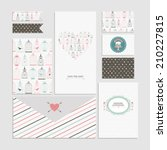 vintage collection of vector... | Shutterstock .eps vector #210227815