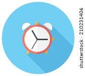 Alarm Clock Icon. Flat Design...