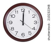 noon on the dial of the large... | Shutterstock . vector #210232348