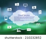cloud service icon pack over...