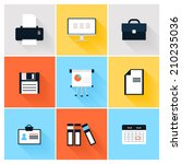 modern icons vector collection... | Shutterstock .eps vector #210235036