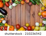 vegetables and fruits... | Shutterstock . vector #210236542
