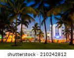 miami   august 10   miami beach ... | Shutterstock . vector #210242812