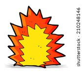 cartoon explosion | Shutterstock . vector #210248146