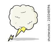 cartoon thundercloud symbol | Shutterstock . vector #210248596