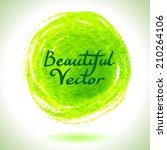 vector watercolor circle... | Shutterstock .eps vector #210264106