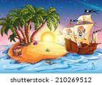 illustration of treasure island ... | Shutterstock .eps vector #210269512