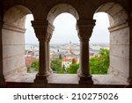 view of parliament and danube... | Shutterstock . vector #210275026