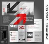 gray business vector brochure... | Shutterstock .eps vector #210275872