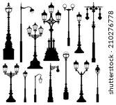 Street Lamp Set. Street Lights...