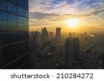 cityscape in the middle of... | Shutterstock . vector #210284272