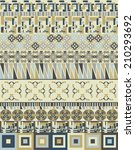 seamless traditional ornamental ... | Shutterstock .eps vector #210293692