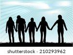 group of people | Shutterstock .eps vector #210293962