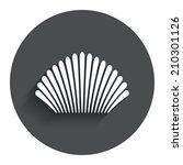 sea shell sign icon. conch... | Shutterstock . vector #210301126